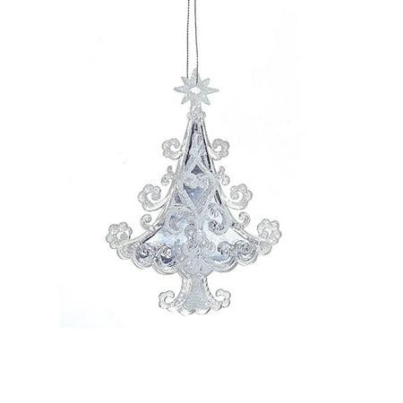 """Kurt S. Adler 5.7"""" Ornate Scroll Pattern Christmas Tree Christmas Ornament - White"""