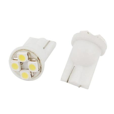 Car Side Wedge (Unique Bargains 2 Pcs T10 Wedge 3528 4 SMD  Car Side Light Turning Bulb Lamp White Internal)