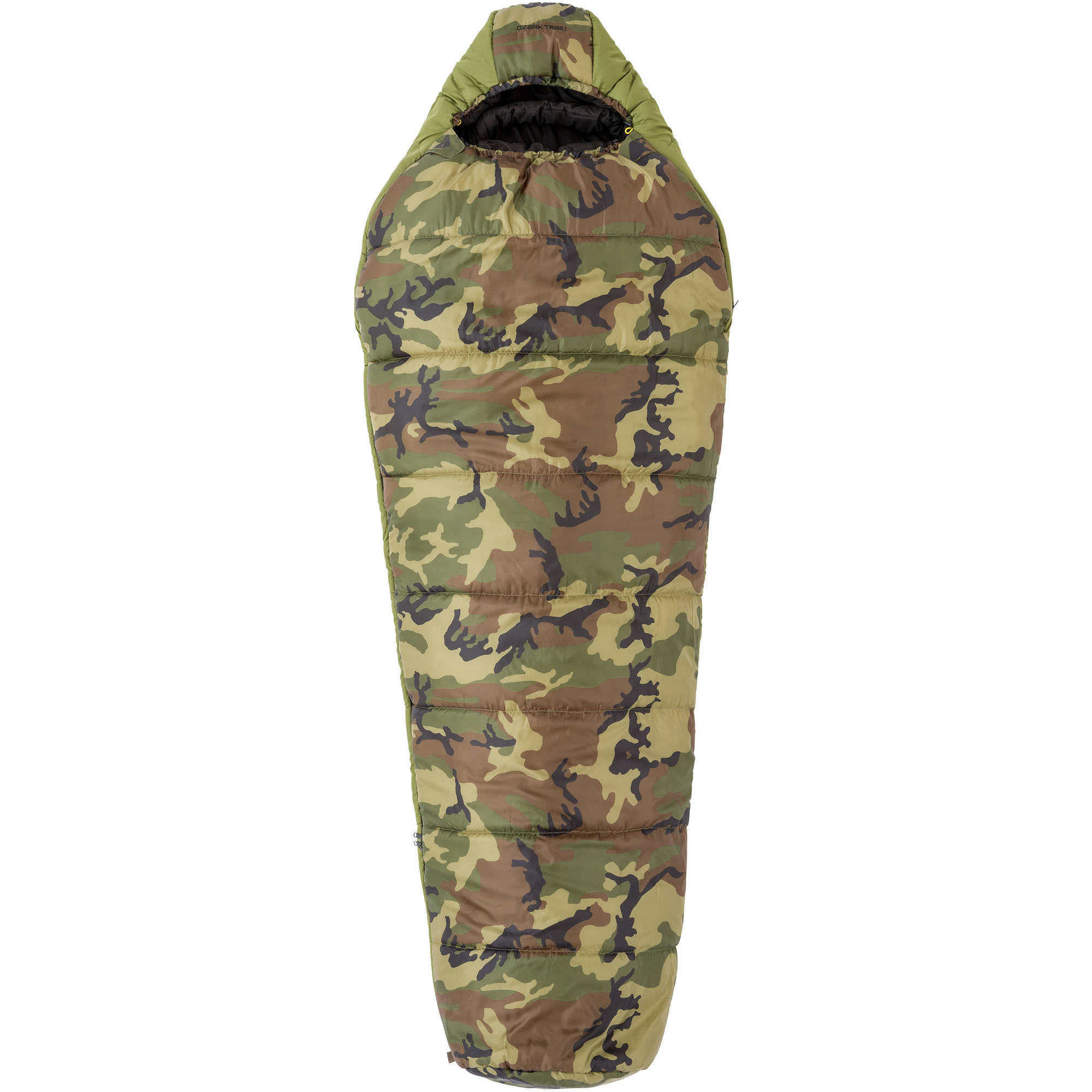 Ozark Trail 30-Degree Camo Mummy Sleeping Bag, Camo/Green/Black