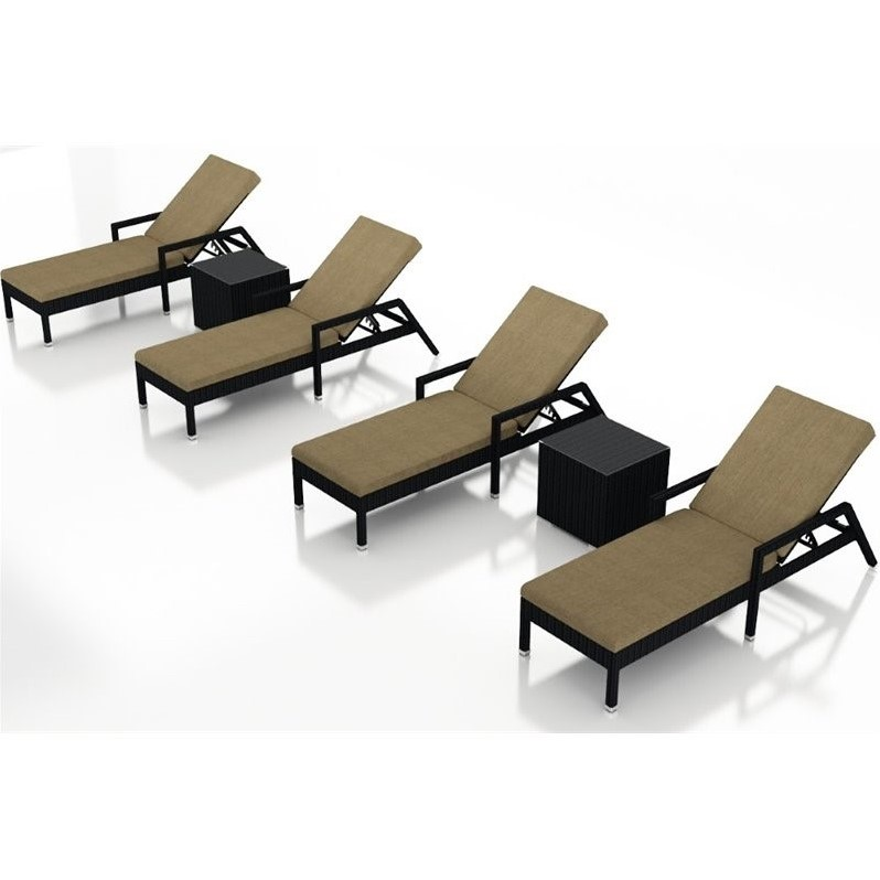 Harmonia Living Urbana 6 Piece Patio Lounge Set in Charcoal