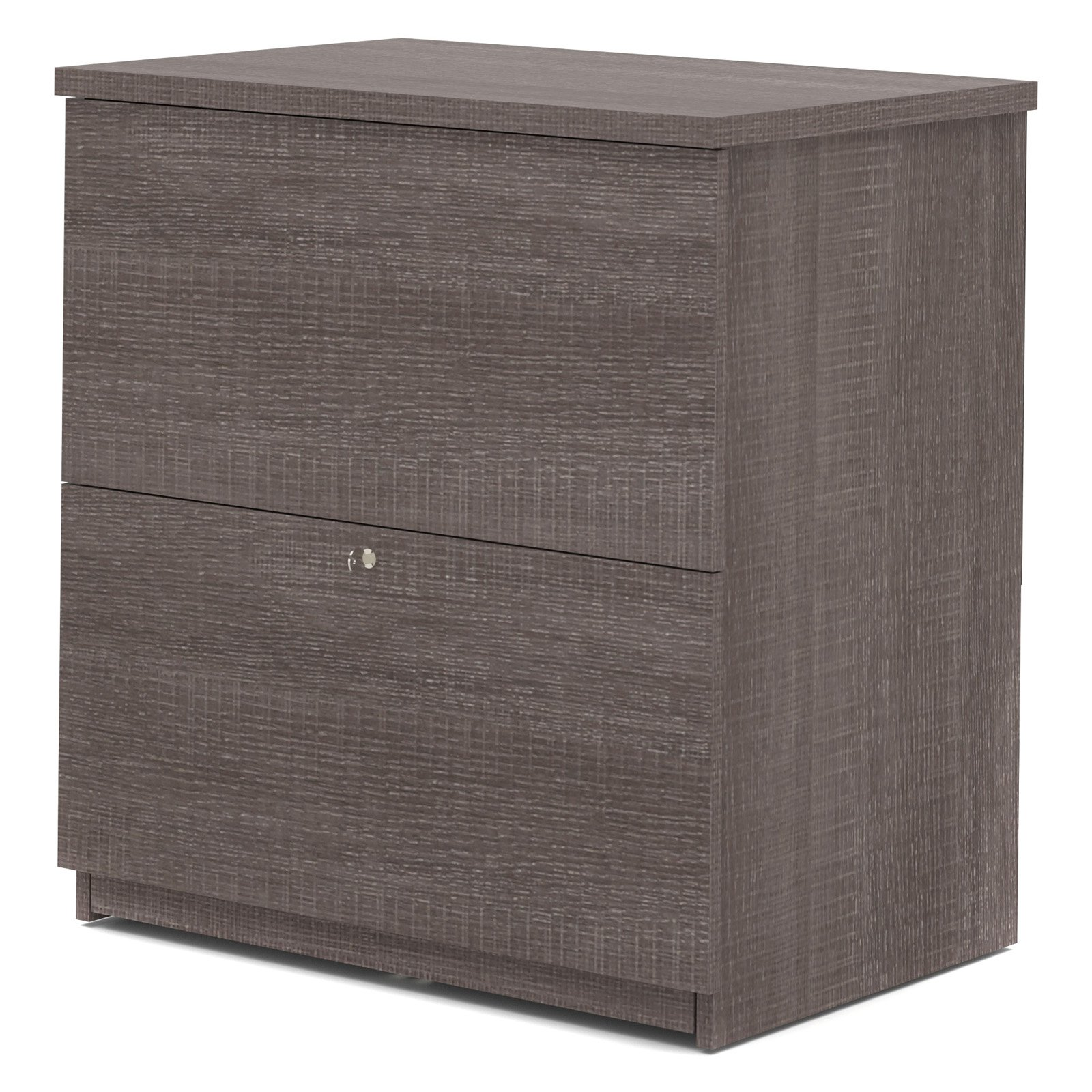 Bestar 2 Drawer Lateral Wood Lockable FileCabinet, Gray by Bestar