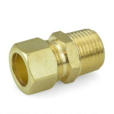Lead-Free Pack of 10 5//8 OD x 1//2 MIP Threaded Compression Adapter