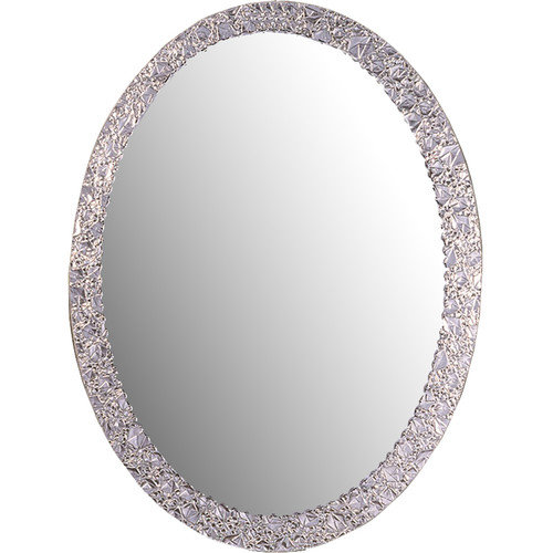 Oval Wall Mirror decor wonderland ssm5016-4 luxor frameless oval wall mirror