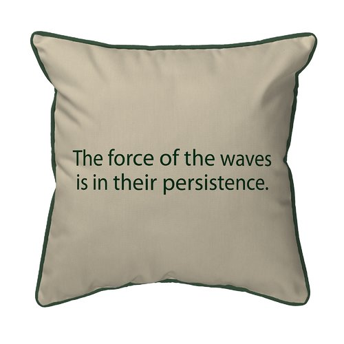 Betsy Drake Interiors Thoughts for the Day The Force of the Waves Indoor/Outdoor Lumbar Pillow
