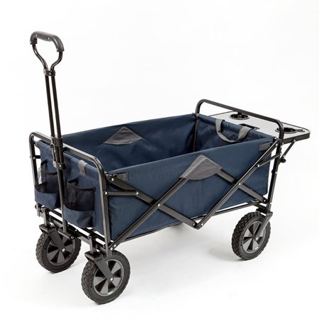 Store Delivery Wagon (Mac Sports Collapsible Folding Outdoor Garden Utility Wagon Cart w/ Table,)