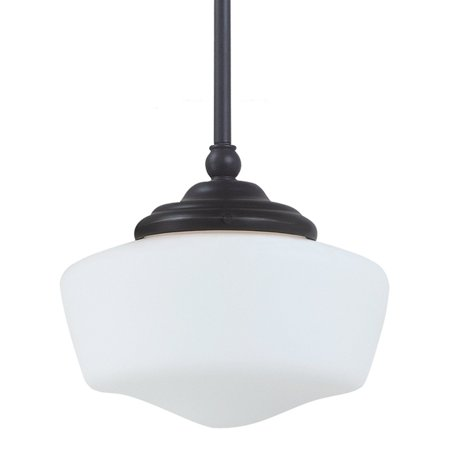 Sea Gull Lighting Academy 1-Light Small Pendant - 6.75W in. Heirloom Bronze