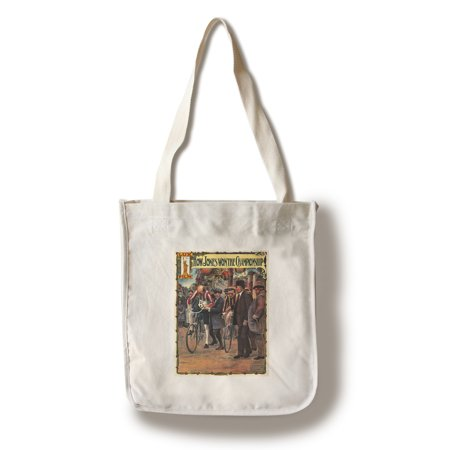 Championship Bag (How Jones Won the Championship Vintage Poster England c. 1910 (100% Cotton Tote Bag - Reusable))