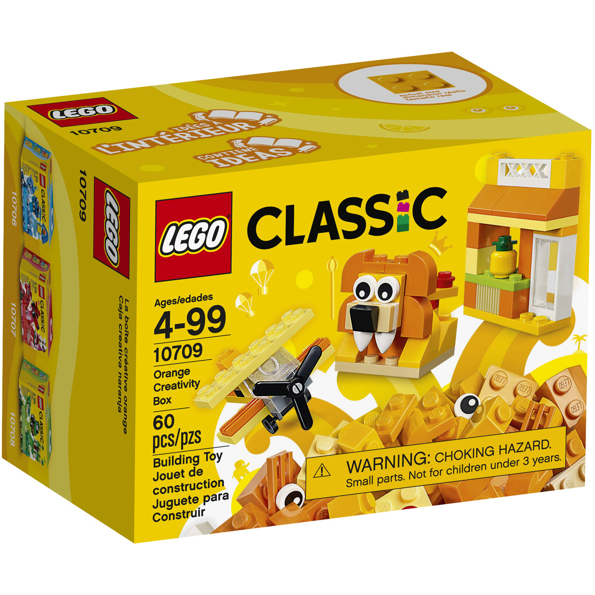 LEGO Classic Creativity Box, Orange 10709 (60 Pieces)