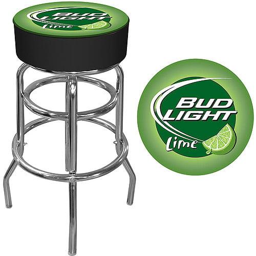 """Trademark Global Bud Light Lime 30"""" Bar Stool"""
