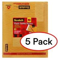 """Scotch Smart Plastic Bubble Mailers, Letter Size, 8.5"""" x 11"""", 5 Pack"""