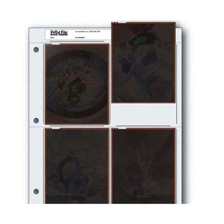 Archival Negative Pages Holds Four 4 x 5 Inches Negatives or Transparencies, Pack of 25 (4 X 5 Negative Sleeves)