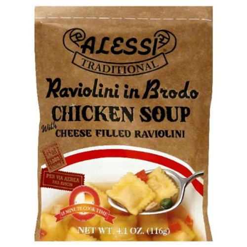 Alessi Raviolini in Brodo Soup, 4.1 Oz (Pack of 6)