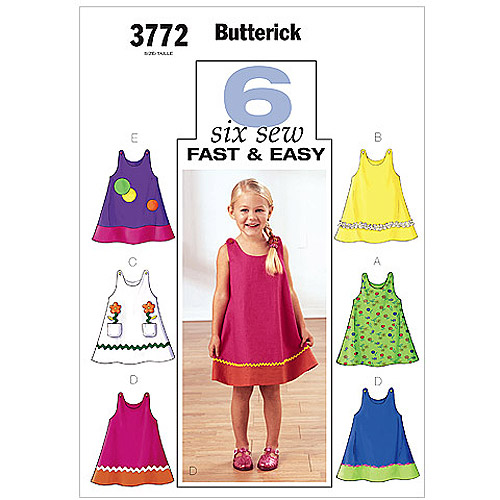 Butterick Pattern Toddler's and Children's Dress, (4, 5, 6)