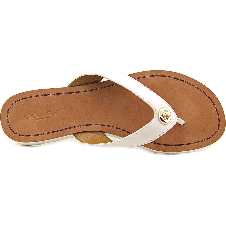 4bd7a5b94207 Coach - Shelly Women Open Toe Leather Flip Flop Sandal - Walmart.com