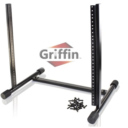 Rackmount Mixer Case (Rack Mount Stand with 10 Spaces by Griffin Music Studio Recording Equipment Mixer Standing Case RackMount Audio Network Server Gear for DJs, Stage Performers and Bands Includes 20 Standard Screws)