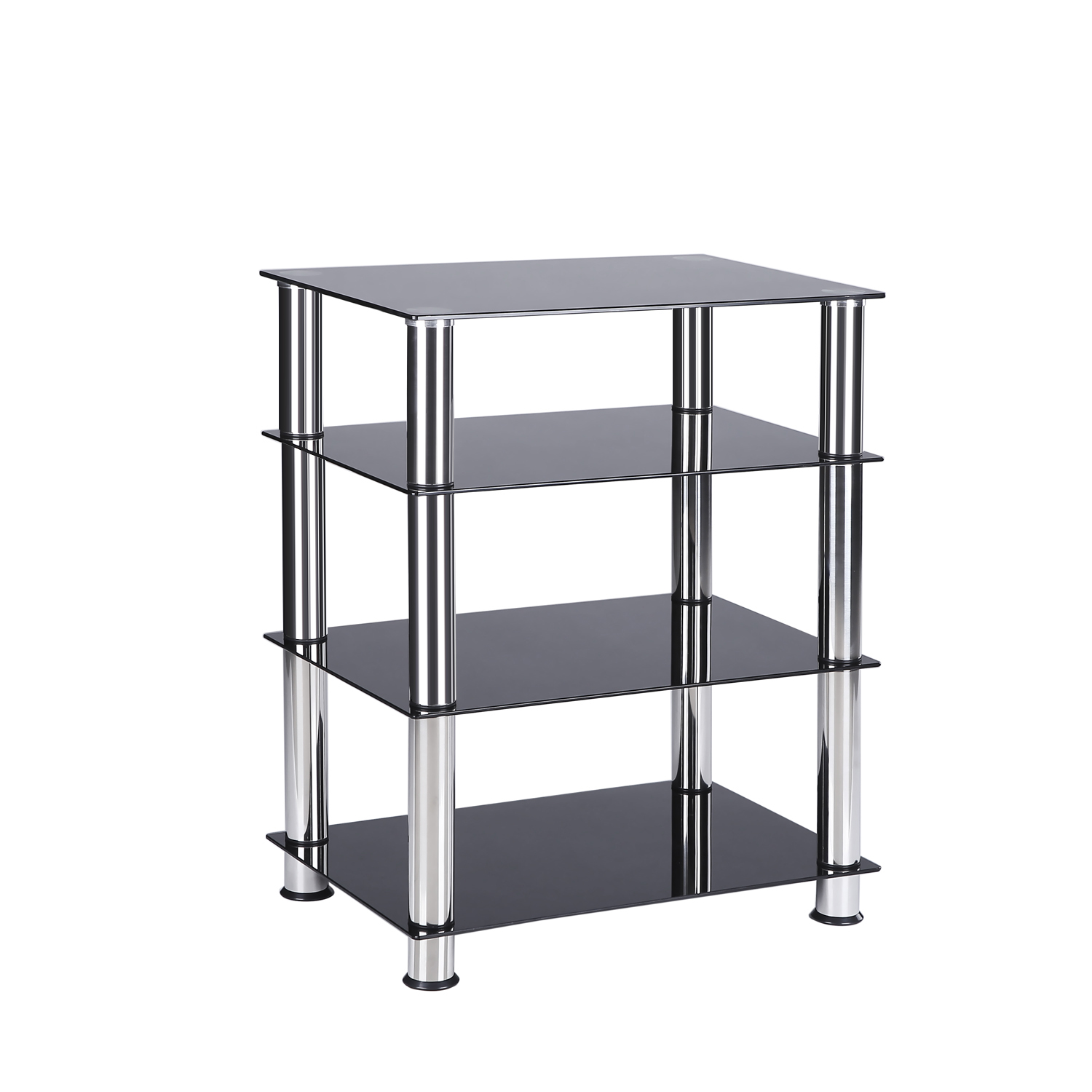 TAVR Furniture 4-tier Media Component Stand Audio Cabinet...