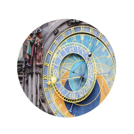 JSDART 60 inch Round Beach Towel Blanket Tower Prague Astronomical Clock Orloj in The Old Town Travel Circle Circular Towels Mat Tapestry Beach Throw - image 1 of 2