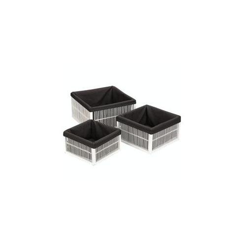 Household Essentials ML-6142 White Fir-Bamboo Baskets - Set of 3