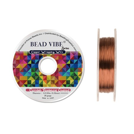 28Gauge Tarnish Resistant Coated Brass Copper Wrapping Wire 120ft