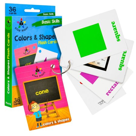 Star Right Flash Cards Set of 4 - Numbers, Alphabets, First Words, Colors & Shapes - Value Pack Flash Cards with Rings for Pre K - K - image 4 of 8