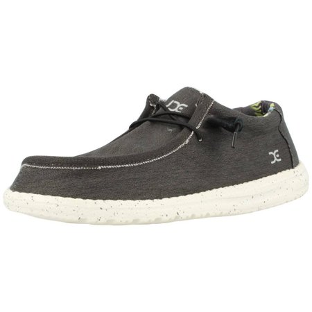 Hey Dude WALLY STRETCH Mens Wide Fit Shoes Black 41