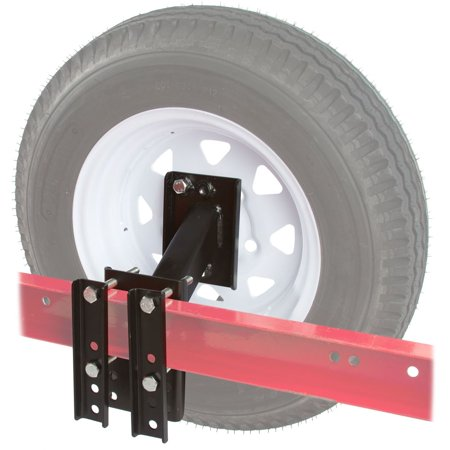 Boat and Utility Trailer Spare Tire Carrier 4 or 5 Lug Wheel Bracket No-Drill