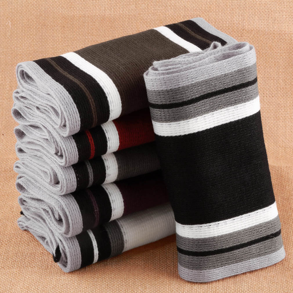 Striped scarf men shawls scarves wrap men business scarf echarpe with tassels