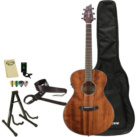 - Breedlove Pursuit Concert Mahogany Acoustic Electric Guitar with Breedlove Gig Bag and ChromaCast Accessories