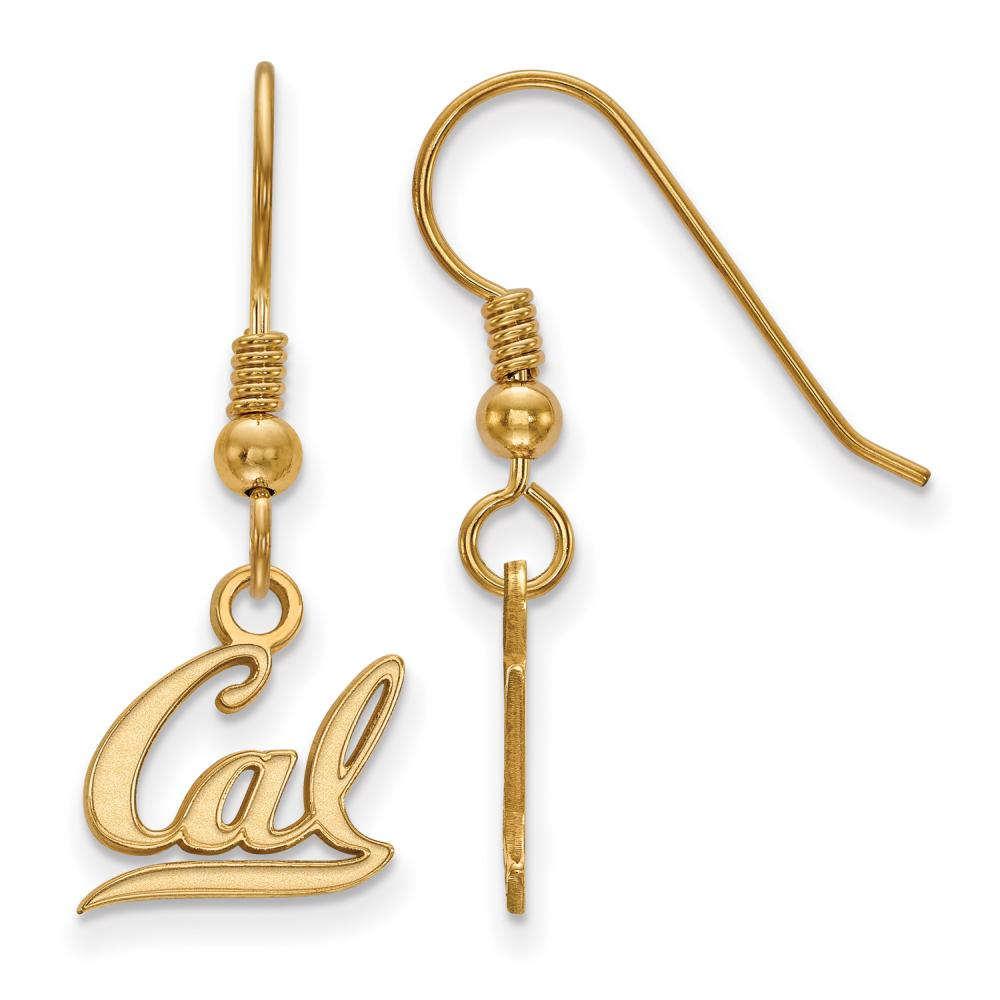 Cal Extra Small (3/8 Inch) Dangle Earrings Wire (Gold Plated)