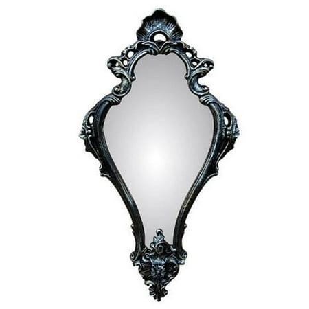 Hickory Manor HM8027BGS Empire Black Gold Silver Decorative Mirror