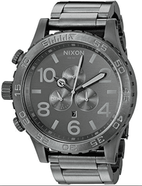 Nixon Men's '51-30 Chrono' Quartz Stainless Steel Casual Watch, Color Grey A0832090
