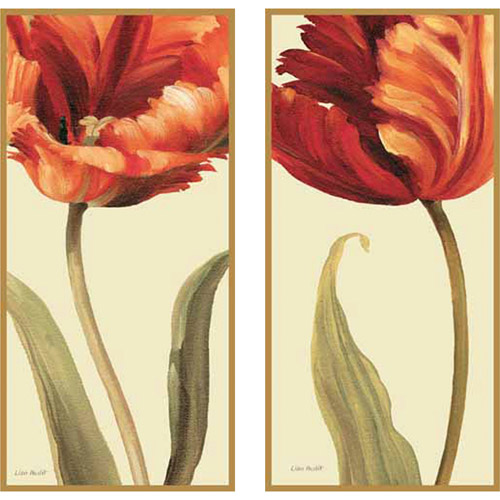 Soft Gorgeous Flowers Plaque Wall Art, Set of 2