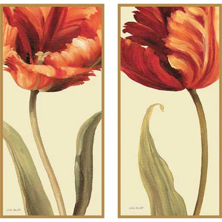 Soft Gorgeous Flowers Plaque Wall Art, Set of 2 (Classic White Exit Signs)