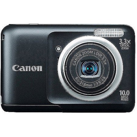 Canon PowerShot A800 Black 10.0MP Digital Camera with 3.3x Optical Zoom, 2.5
