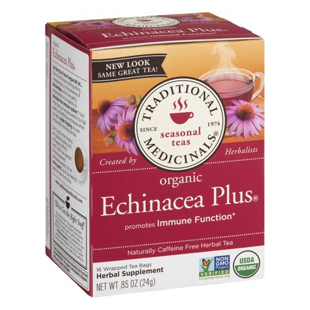 (6 Boxes) TRADITIONAL MEDICINAL ECHINACEA (Echinacea Elderberry Tea 20 Bags)