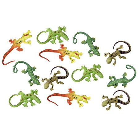 12 Mini Stretchy Lizards - Small Novelty Toy Party - Stretchy Toys