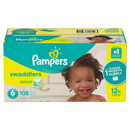 - Pampers Swaddlers Disposable Diapers Size 6, 108 Count, ECONOMY PACK PLUS