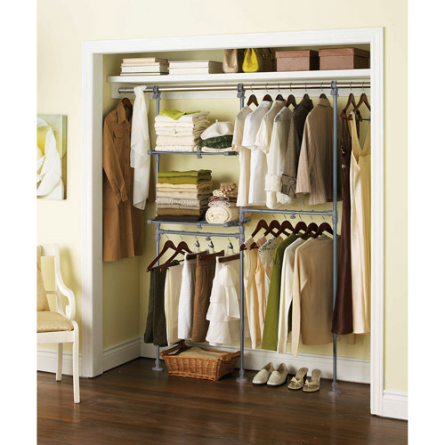 Mainstays Custom Closet Organizer Kit Walmart Com