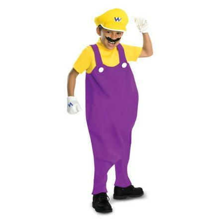 Super Mario Bros Deluxe Wario Costume Child for $<!---->