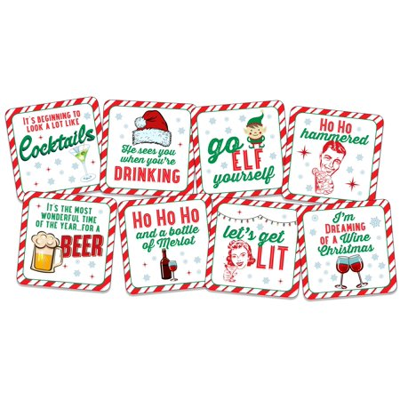 - Inc Peter Pauper Press Holiday Coasters 8-piece Set
