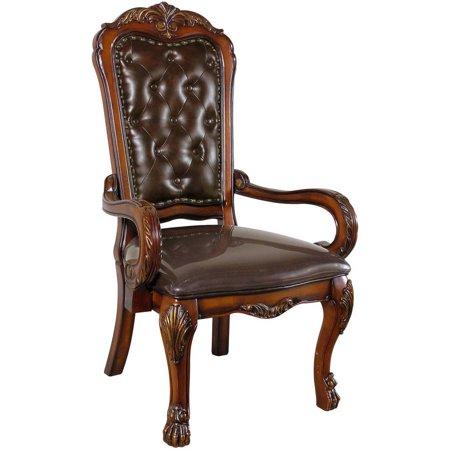 Acme Dresden Executive Arm Chair, Cherry - Dresden Arm Chairs