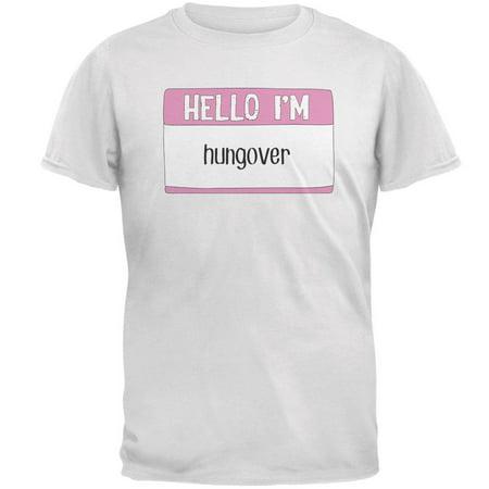 Halloween Hello I'm Hungover Mens T Shirt (Halloween Wellington Nz)