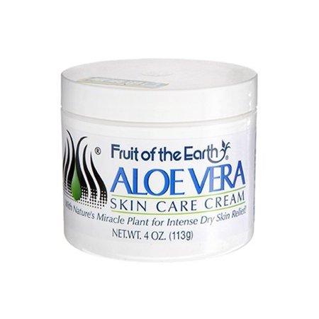 Fruit of the Earth Aloe Vera Skin Care Cream, 4 Ounce ()