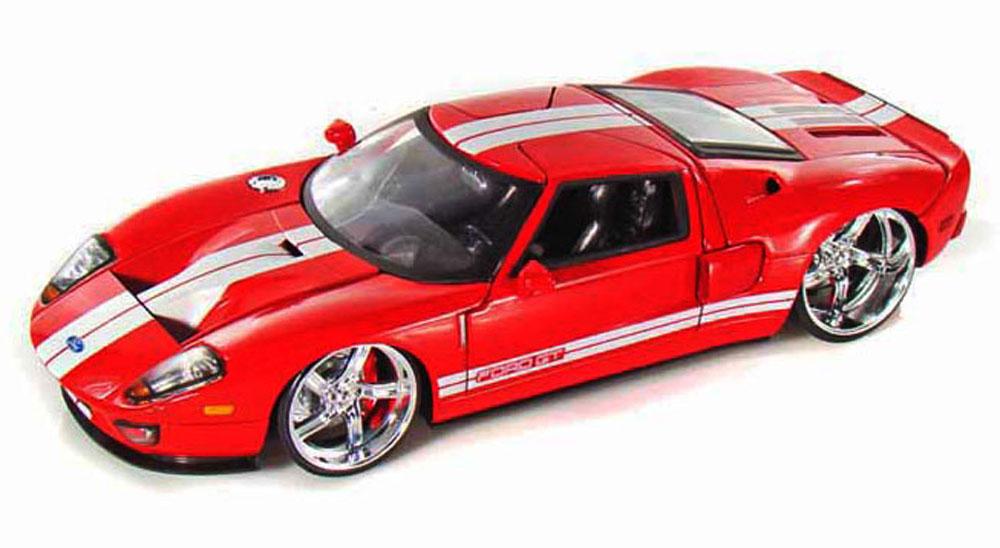 Ford Gt Red Jada Toys Bigtime Kustoms  Scalecast Model Toy Car Walmart Com