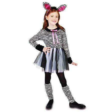 Zebra Girl Child Costume](Makeup For Zebra Costume)