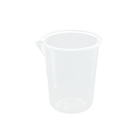 25mL Capacity Clear Plastic Water Liquid Beaker Measuring Cup Tool for