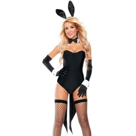 Naughty Nights Bunny Costume S4517 Starline Black - Naughty Professor Costume