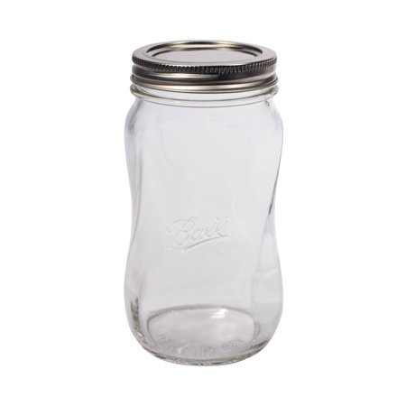 - Ball Collection Elite Spiral Regular Mouth 16-Oz. Glass Mason Jars, 4-Count