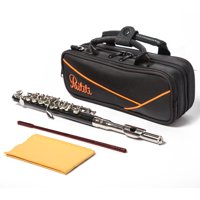 Paititi Professional Centertone Composite Wood Piccolo Flute Silver Plated Head Joint Ebonite Composite Wood Body with High Quality Case