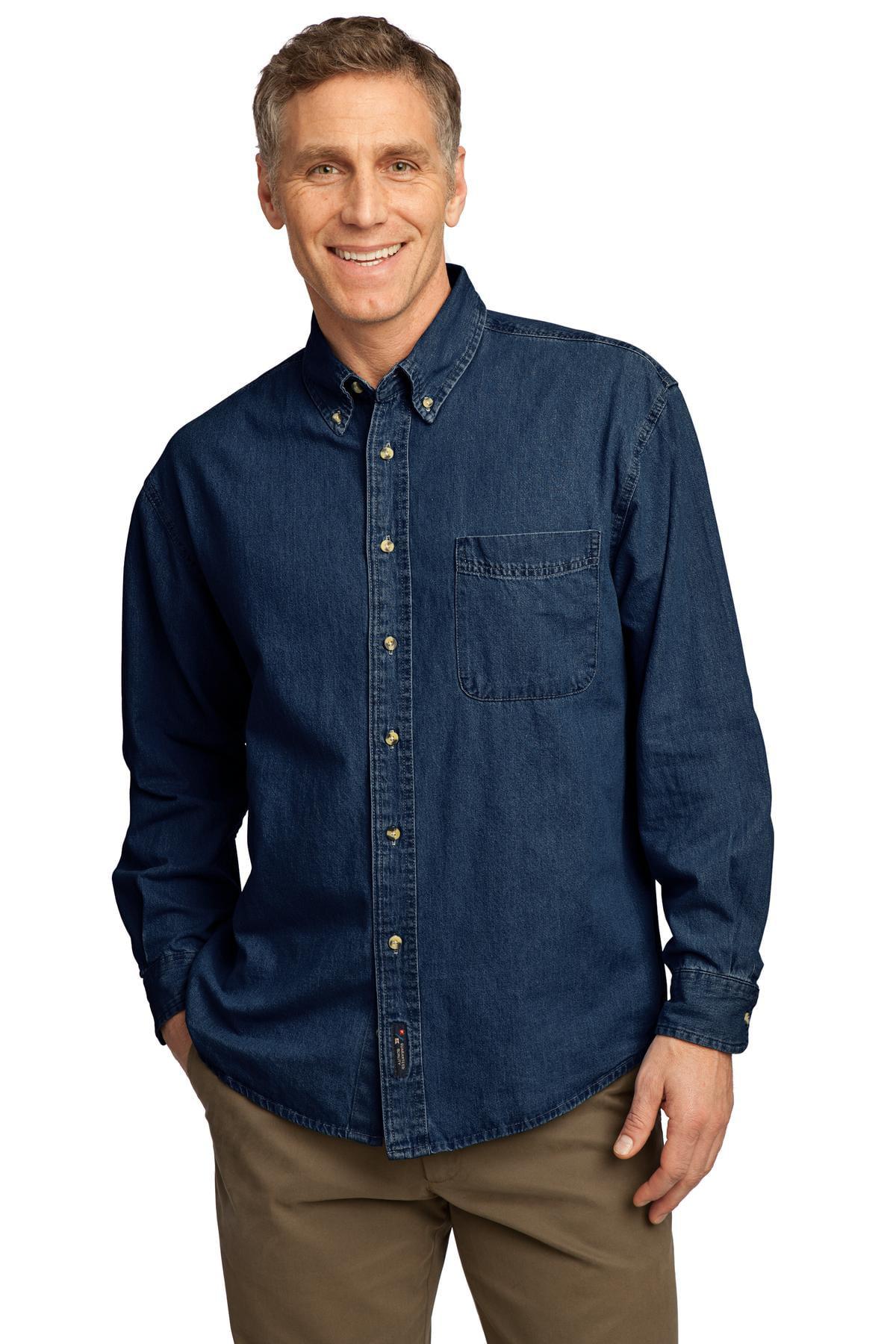 Port & Company - Long Sleeve Value Denim Shirt